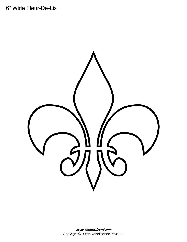 photo about Fleur De Lis Printable known as Fleur De Lis Templates Printable Fleur De Lis Styles
