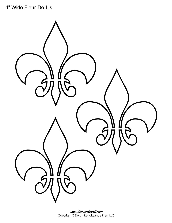 picture about Fleur De Lis Printable called Fleur De Lis Templates Printable Fleur De Lis Styles