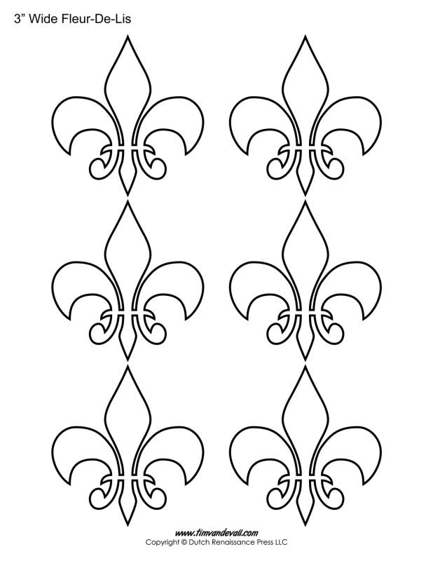Fleur de lis templates tim 39 s printables for Printable fleur de lis coloring pages