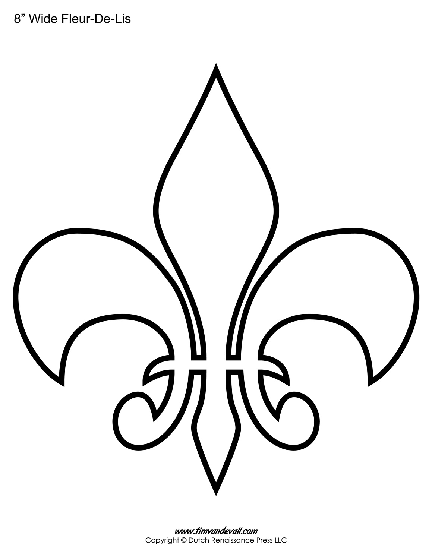 Fleur De Lis Templates | Printable Fleur De Lis Shapes