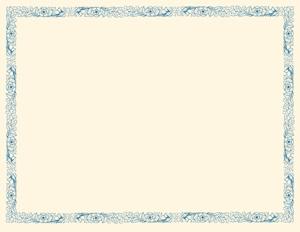 certificate template blank