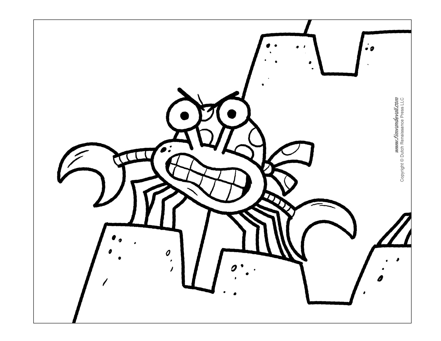 Beautiful Free Crab Coloring Page With Crab Coloring Page