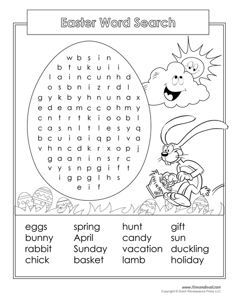 photograph regarding Easter Word Search Printable Worksheets titled Easter Phrase Appear Printable - Tims Printables