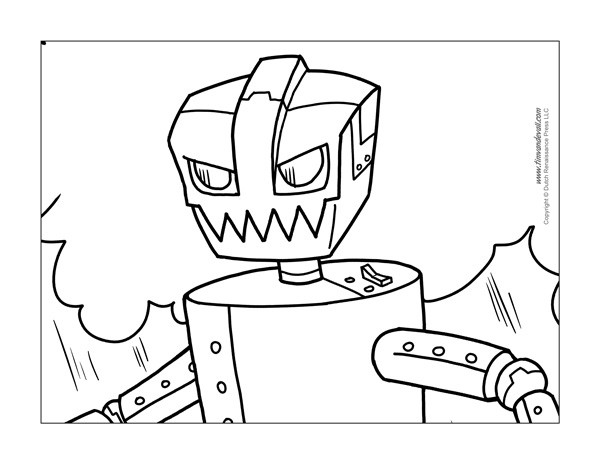 Free Robot Coloring Page
