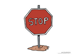 free stop sign template