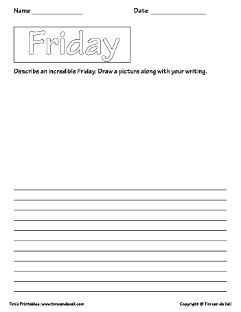 friday printable