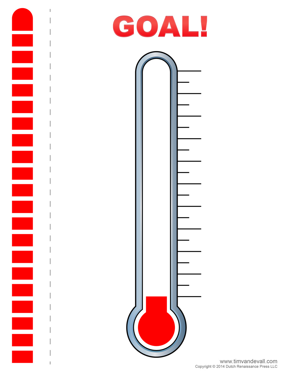 Thermometer goal template printable autos post for Money thermometer template