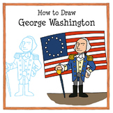 how to draw george washington drawing tutorial