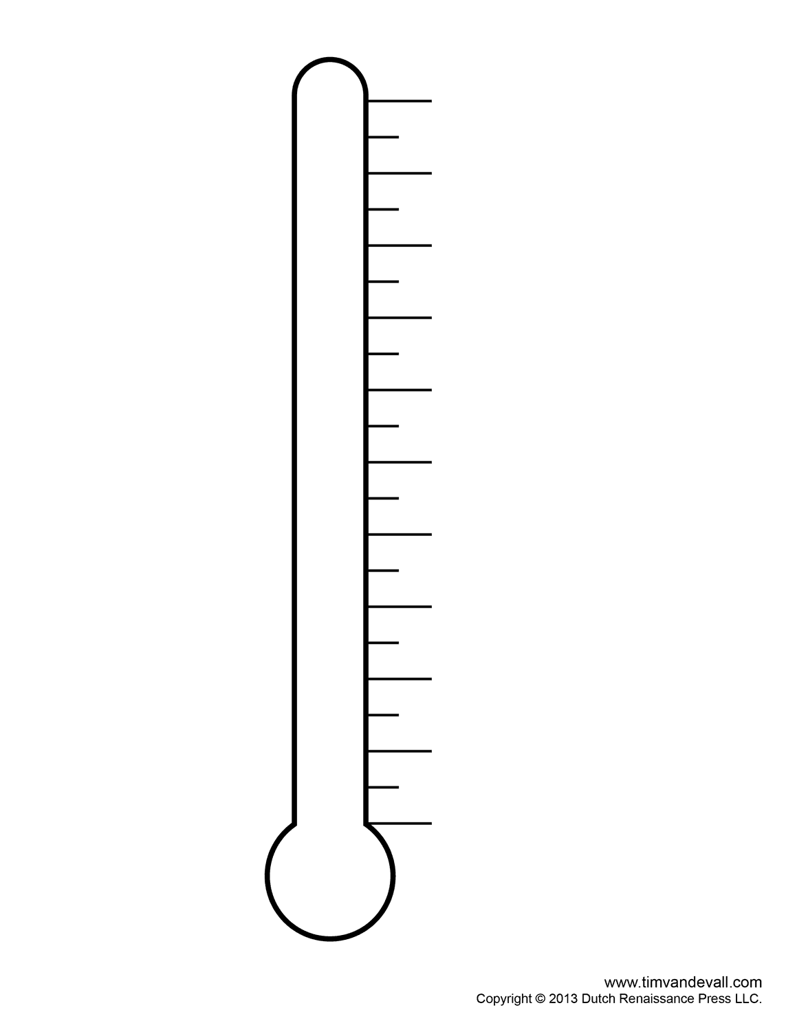 Blank Thermometer Template For Teachers Thermometer images feature