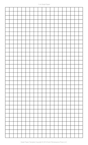 Graph Paper Template, 8.5×14 Legal