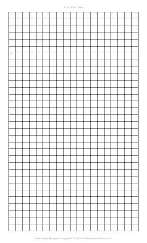 1 Centimeter Graph Paper Template, Legal PDF