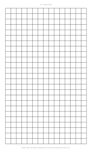 Graph Paper Template, 8.5×14 Legal