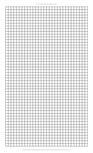 1/4 Inch Graph Paper Template, Legal PDF  Grid Paper Template