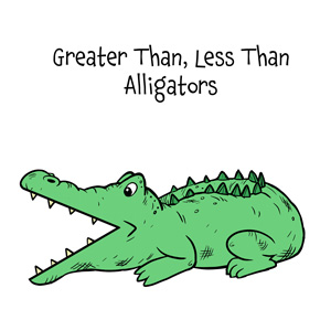 graphic about Greater Than Less Than Alligator Printable referred to as Larger sized Than A lot less Than Alligators Math Printables for Young children
