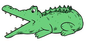 greater than less than alligator symbol