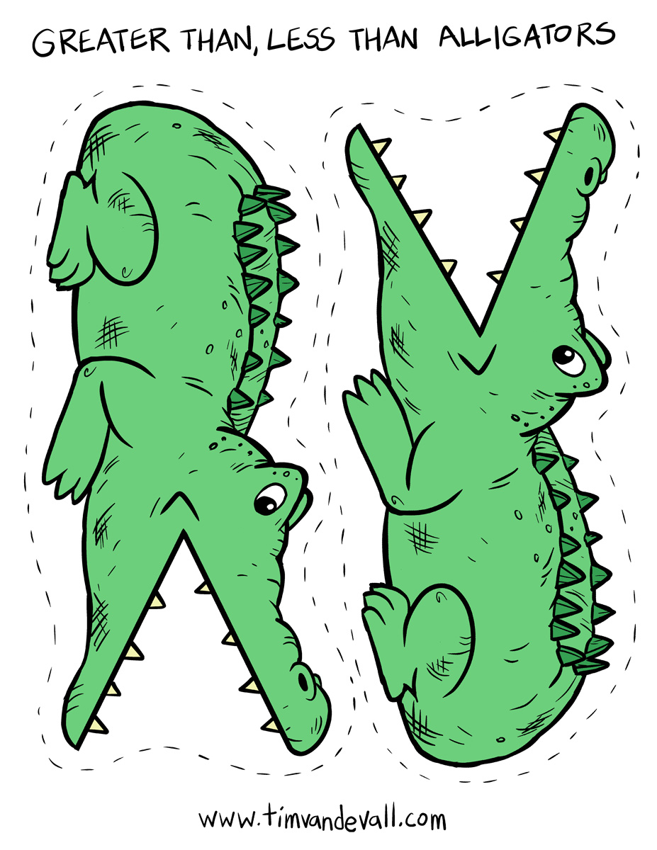 image relating to Greater Than Less Than Alligator Printable identified as improved-than-a lot less-than-alligators - Tims Printables