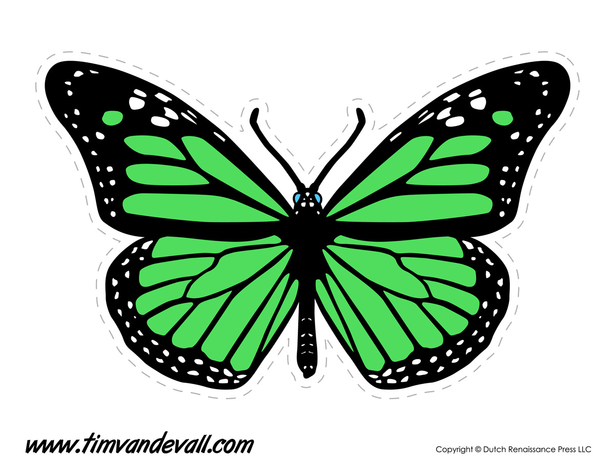 Butterfly printable for personal and educational use only commercial