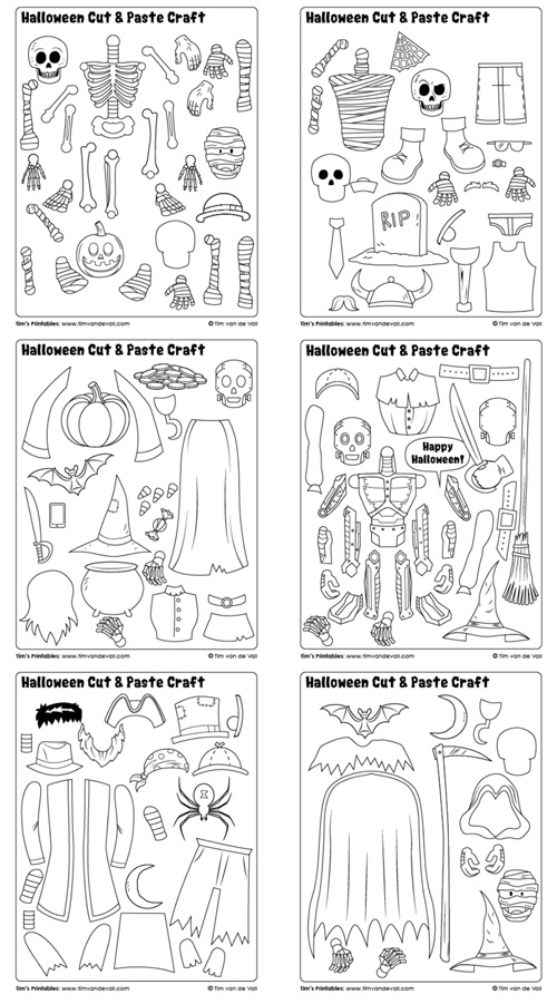 halloween-cut-and-paste-collection