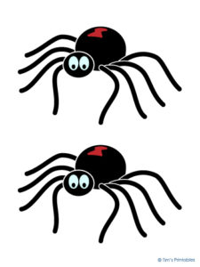 Printable Spider Decorations for Halloween