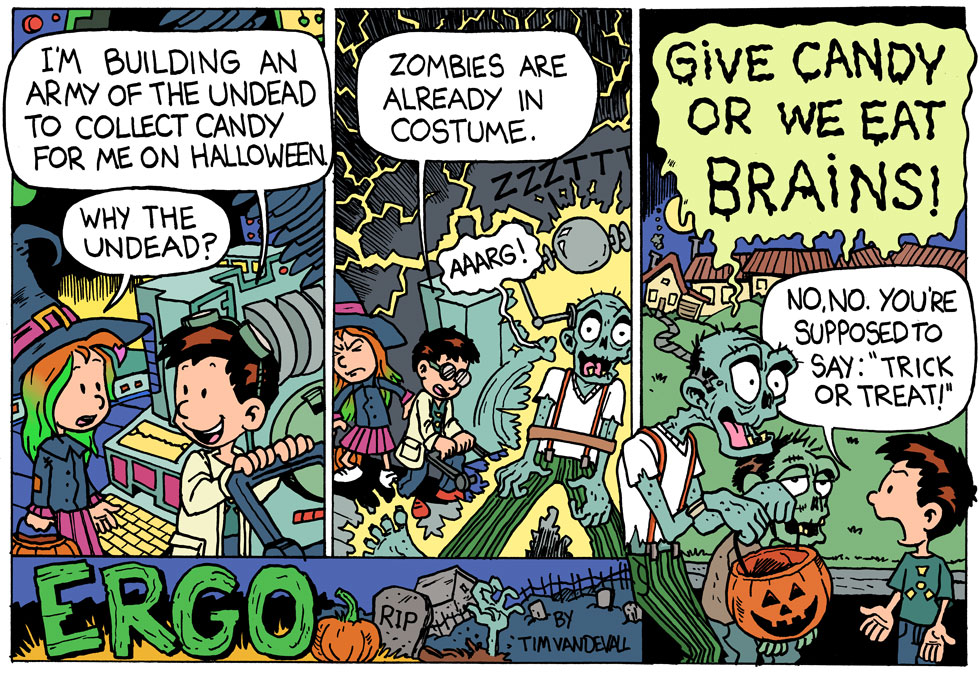 halloween comic stirp