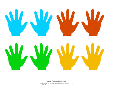 image relating to Hand Printable known as Blank Hand Template Printables Handprint Templates