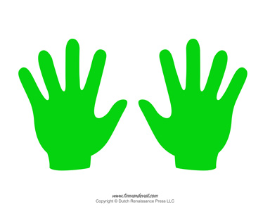 Hand Templates Printable Handprint Template
