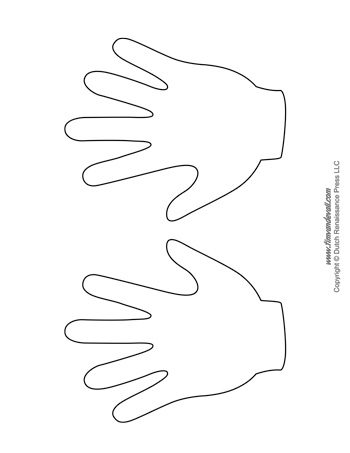 Shocking image for printable handprint template