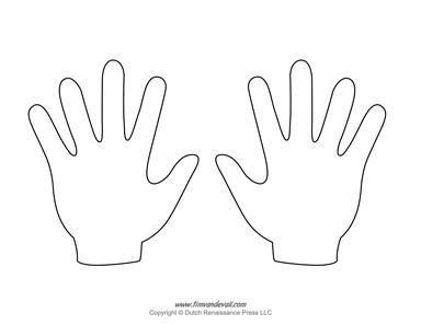 hands template