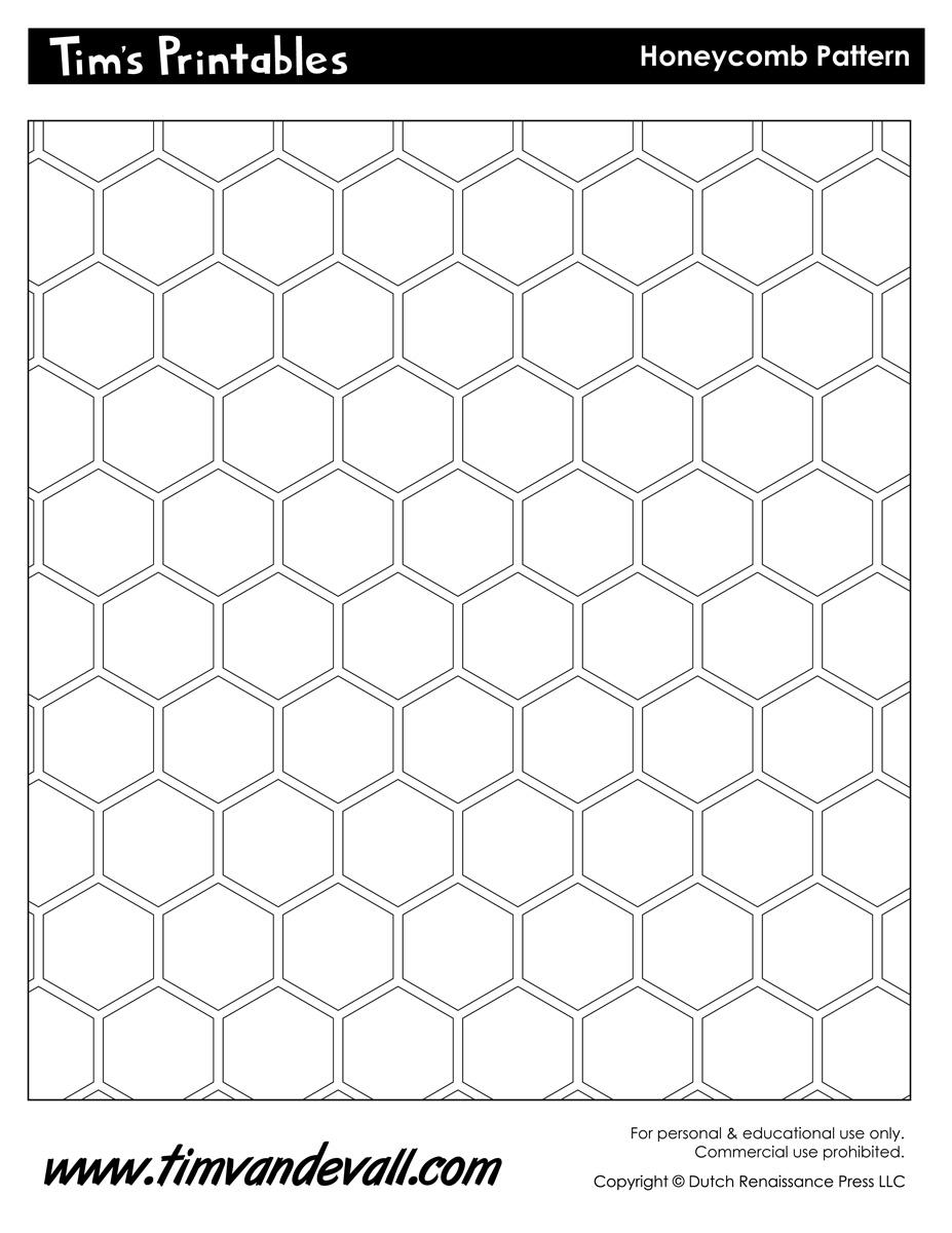 Worksheet Pattern Printable honeycomb template pattern template