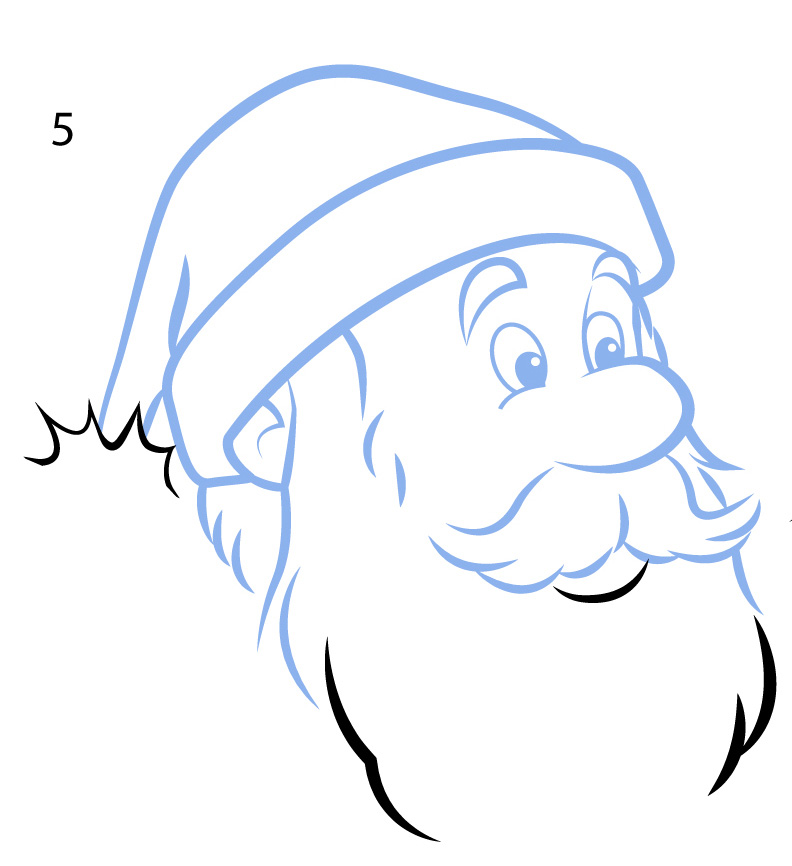 learn how to draw Santa Claus