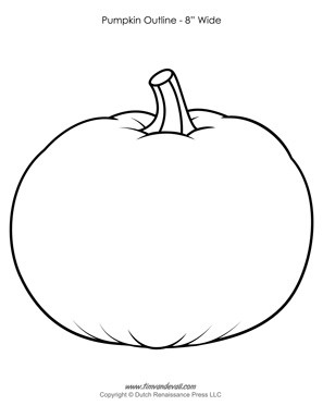 Pumpkin Outline Printable | Pumpkin Clip Art - Black and ...