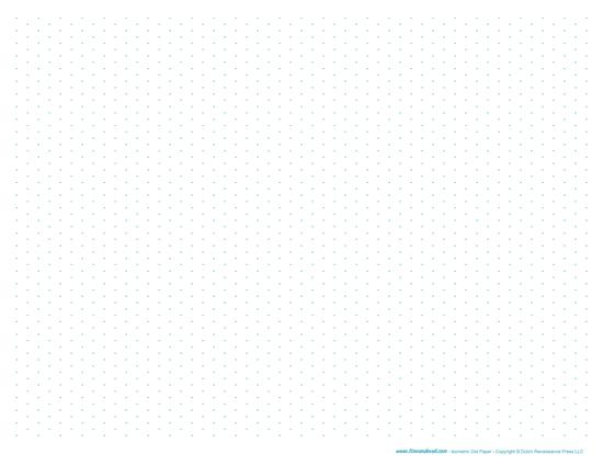 Printable Isometric Dot Paper PDF