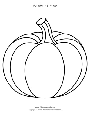Pumpkin Templates   Paper Pumpkins Printables for Halloween   PDF