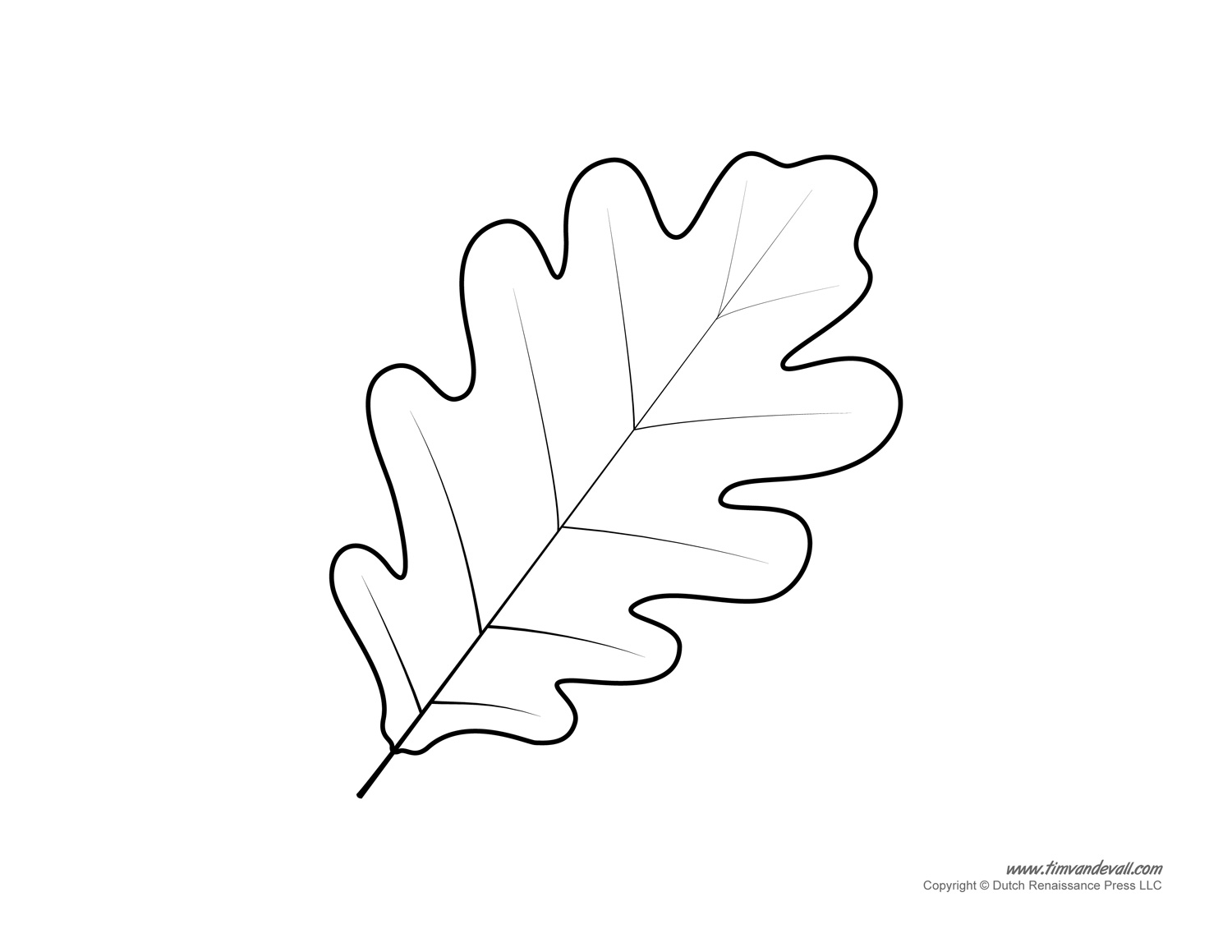 leaf template - Tree Leaves Coloring Page