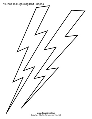 lightning bolt stencil