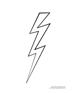 lightning bolt coloring pages | Weather for Kids | Free Cloud Templates and Weather ...