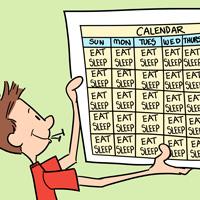 man with calendar
