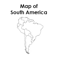 photograph about Printable Blank Map of South America identified as Blank Map of South The us template