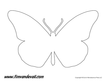 Comprehensive image with butterfly stencil printable