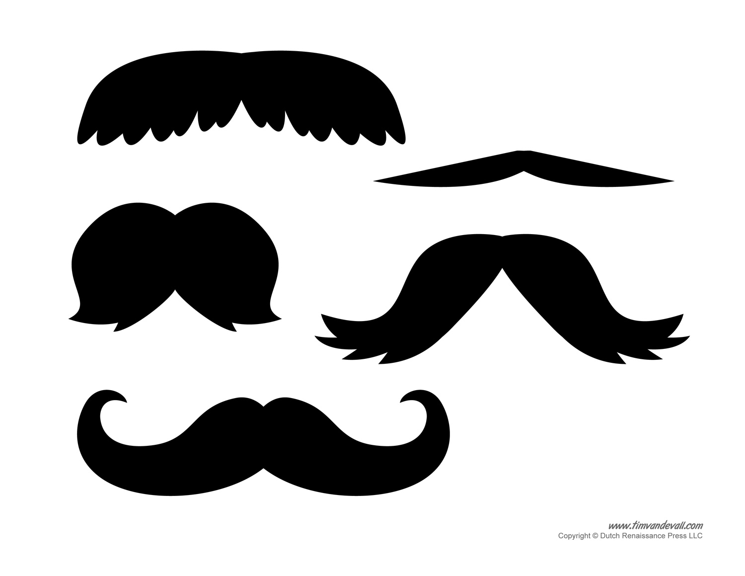 Printable mustache templates mustaches for kids for Mustache templates printable
