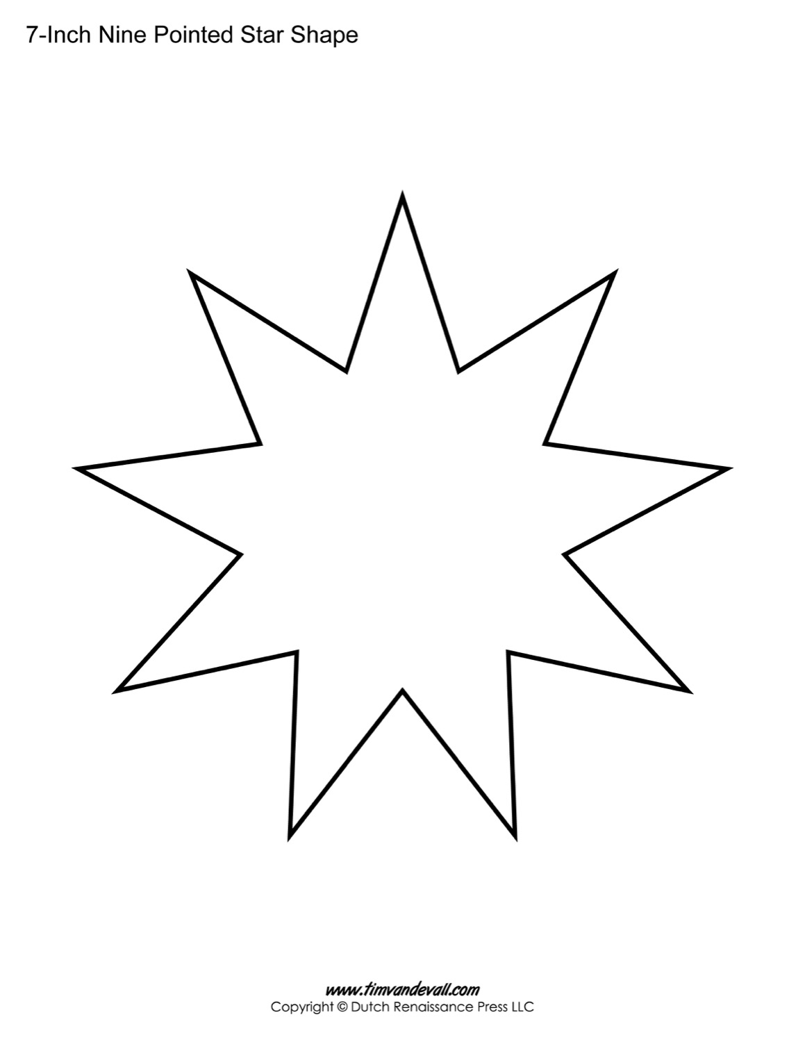 Nine Pointed Star 85