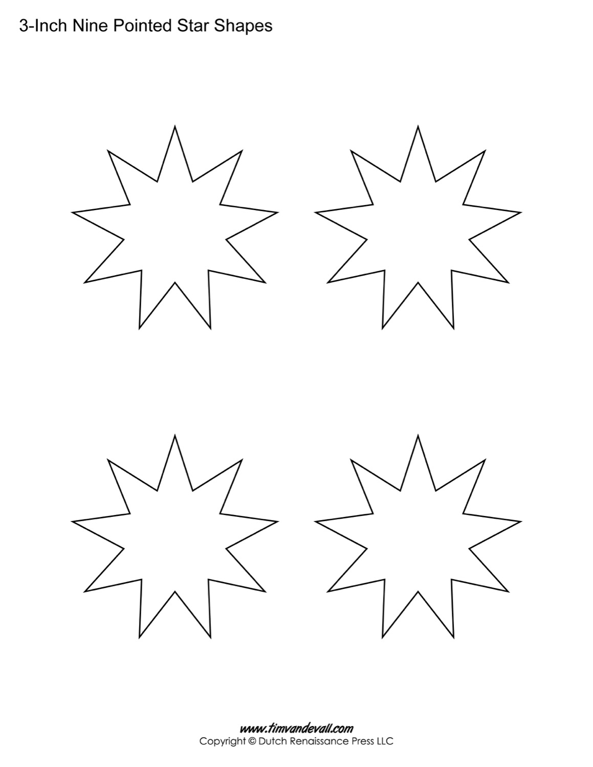 9 pointed stars