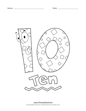 Printable Number Coloring Pages