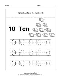 math worksheet : free number tracing worksheets  preschool printables : Printable Number Tracing Worksheets For Kindergarten