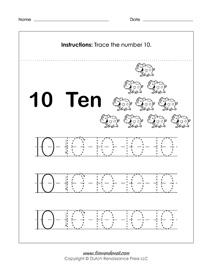 Free Number Tracing Worksheets | Preschool Printables