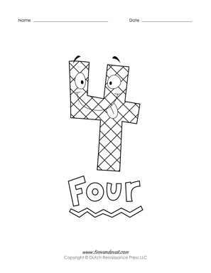 Printable Number Coloring Pages  Free Preschool Coloring Pages