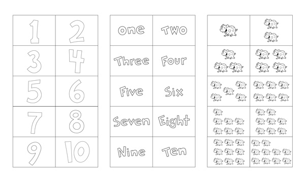image about Printable Number Flash Cards named Amount Flash Playing cards Printable 1-10 Free of charge Preschool Printables