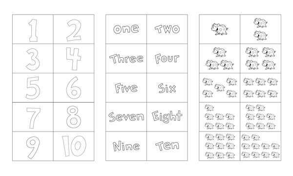 Number Flash Cards Printable 1-10 | Free Preschool Printables