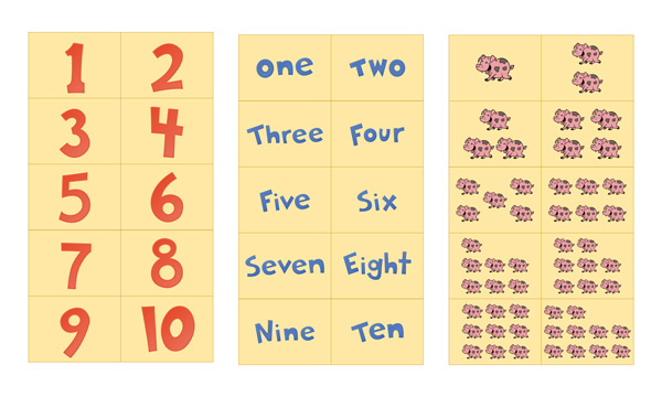 graphic relating to Printable Numbers Flashcards identified as Amount Flash Playing cards Printable 1-10 Cost-free Preschool Printables