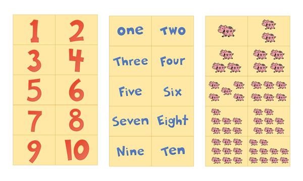 Number Flash Cards Printable 1-10   Free Preschool Printables